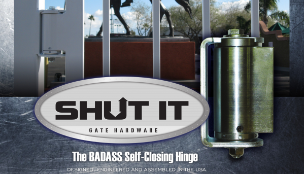 try the baddest heaviest duty selfclosing gate hinge available